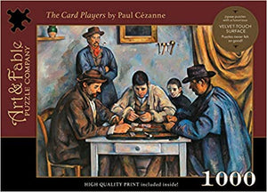 THE CARD PLAYERS: 1000 PIECE JIGSAW PUZZLE  by Art & Fable Puzzle Company LLC
