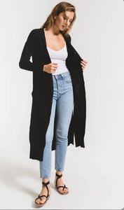 Black Duster Sweater