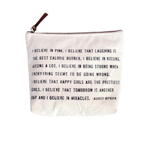 Canvas Zip Bag - I Believe