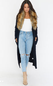 Lombardi Long Cardi with Fur