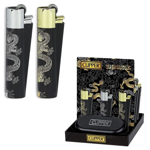 Clipper Metal Super Dragons Lighter | Smokerolla Wholesale