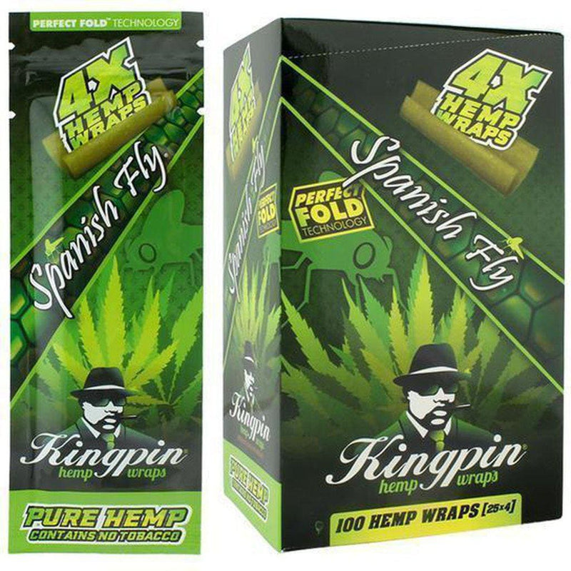 Kingpin Hemp Wraps 4x 100 Ct