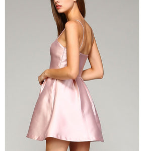 Pink Blush Color Fit and Flare Dress