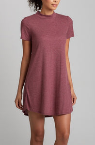 A Line Wine Short Dress