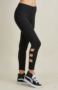 Juniors Black Cut Out Leggings