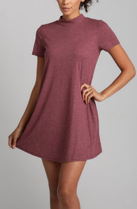 A Line Ribbed Short Dress - Bozzolo Knit Dress