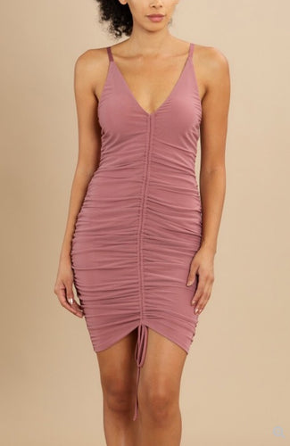 Mauve Color Bodycon Dress