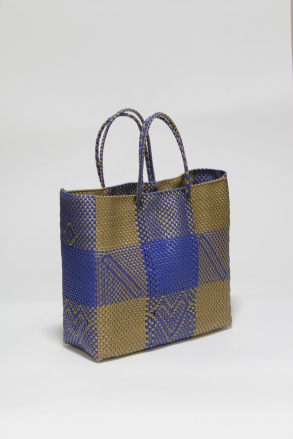 Bronze and Blue Check Bag Mサイズ