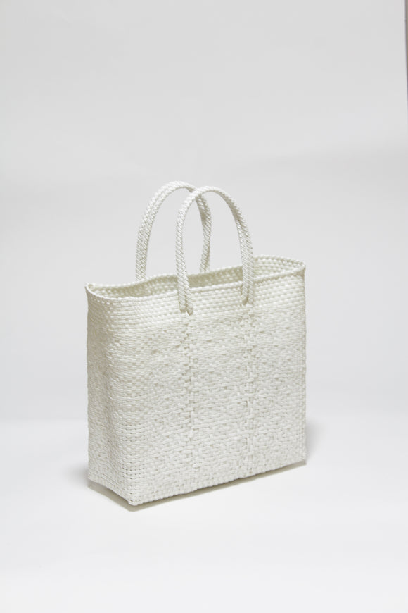 White Short Handle Bag Mサイズ