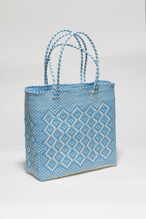 Light Blue and White Honeycomb Bag Mサイズ