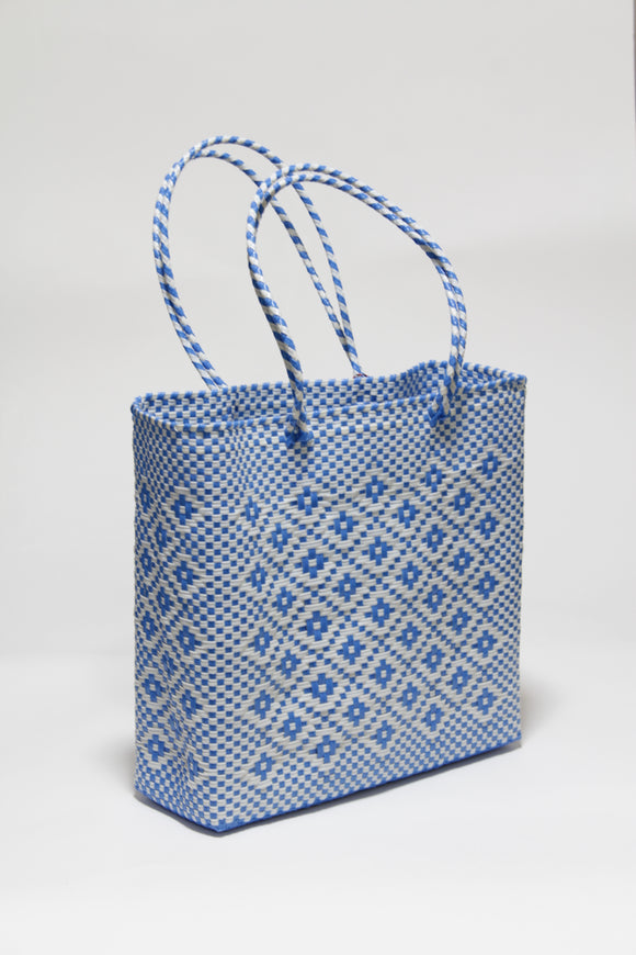 Light Blue and White Diamond Bag Mサイズ