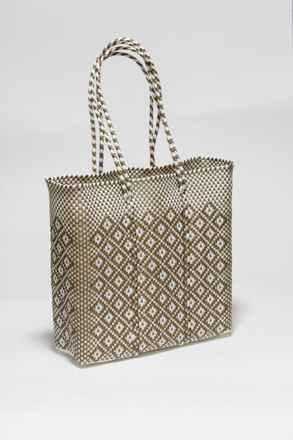 White and Gold Diamond Bag Mサイズ