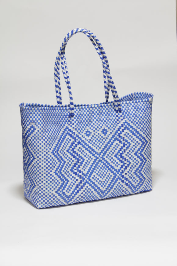 Blue and White Butterfly Bag  Lサイズ