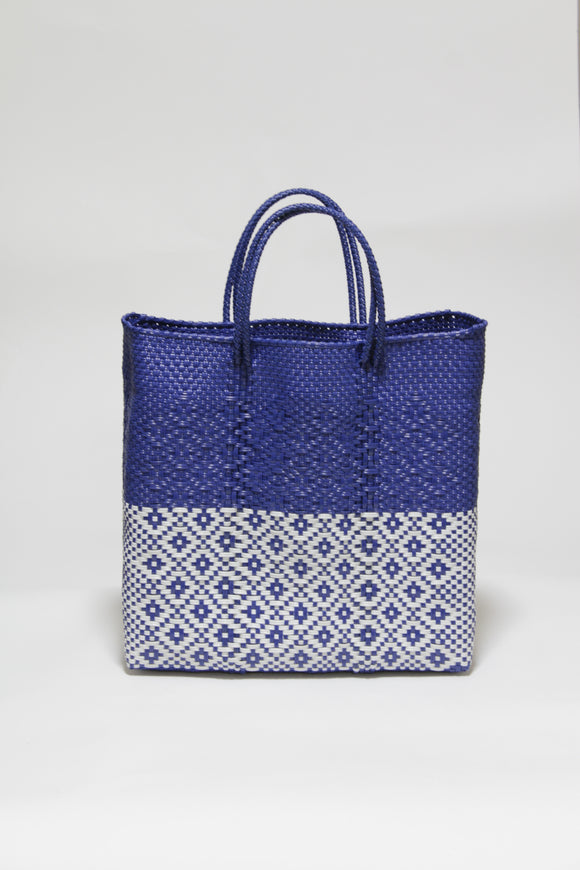 Blue and White Half Diamond Bag Mサイズ