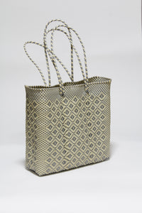 Silver and Cream Diamond Bag Mサイズ