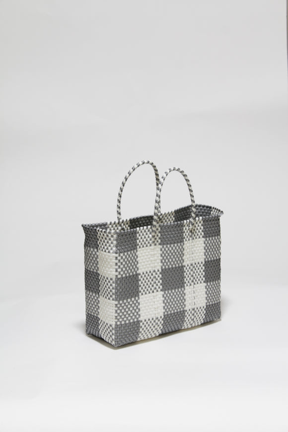 Silver and White Check Bag XSサイズ