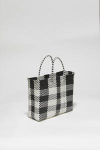 White and Black Check Bag XSサイズ