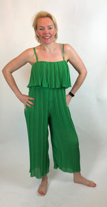Frill Pleat Jumpsuit (various colours) - chichappensboutique
