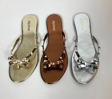 Valentino Inspired Flip Flops (various colours) - chichappensboutique