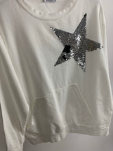 Load image into Gallery viewer, Short Sequin Star Sweatshirt - chichappensboutique