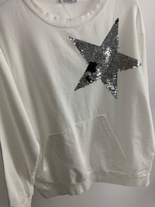 Short Sequin Star Sweatshirt - chichappensboutique