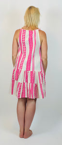 Summer Stripe Halter Neck Dress - chichappensboutique