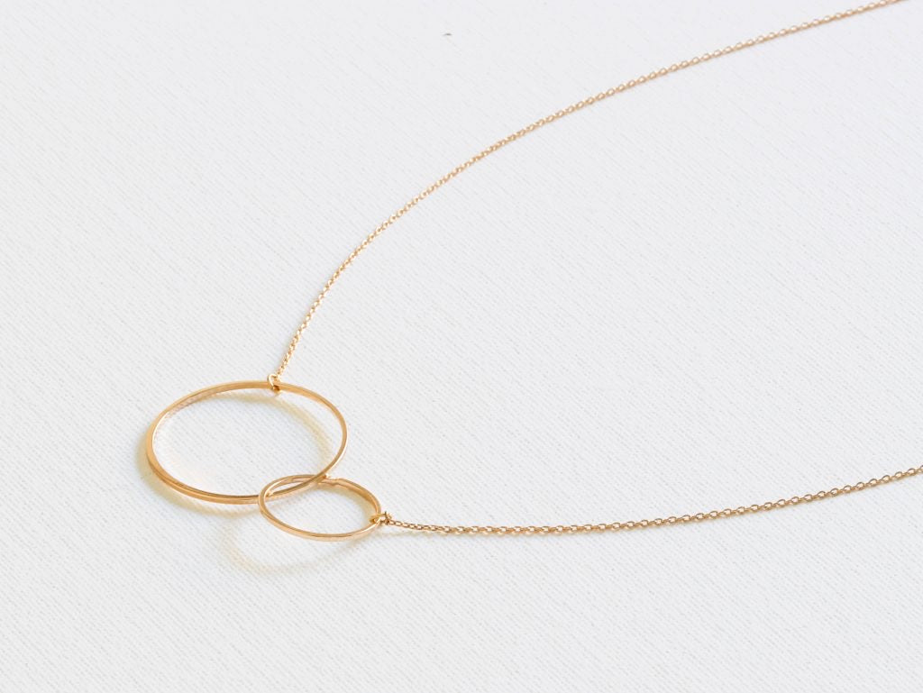 Helen Entwined Circles Necklace