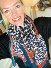 Load image into Gallery viewer, Leaves and Spots Scarf (various colours) - chichappensboutique