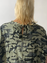 Load image into Gallery viewer, V-Neck Camo Tie Back Tunic in viscose - chichappensboutique
