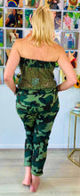 Load image into Gallery viewer, Strapless Camo Jumpsuit - chichappensboutique