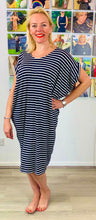 Load image into Gallery viewer, Breton V Back jersey Tunic - chichappensboutique