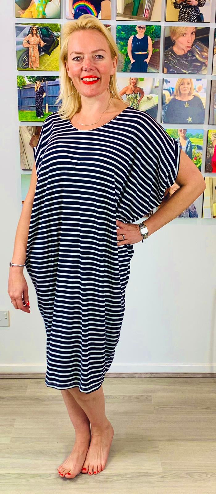 Breton V Back jersey Tunic - chichappensboutique