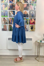 Load image into Gallery viewer, Soft Denim Perforated Tunic - chichappensboutique