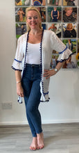 Load image into Gallery viewer, Pom Pom Trim Summer Kaftan - chichappensboutique