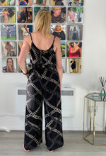 Load image into Gallery viewer, Elli White Chains Jumpsuit - chichappensboutique
