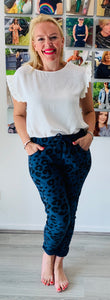 Essential Animal Turn Up Trousers - chichappensboutique