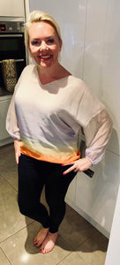 Explosion Ombré Blouse - chichappensboutique