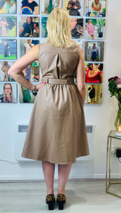 Leather Look Fifties style dress - chichappensboutique