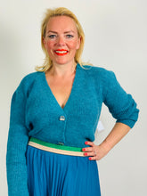 Load image into Gallery viewer, Teal Cardigan - chichappensboutique