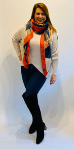 Geo Watercolour Scarf (various colours) - chichappensboutique
