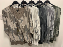 Load image into Gallery viewer, Three piece Super Soft Layer Top In Camo - chichappensboutique
