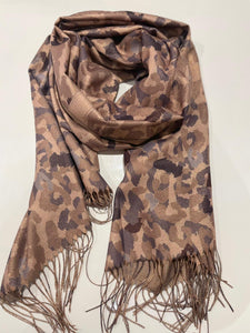 Gold Thread Mixed Animal Scarf (various colours) - chichappensboutique