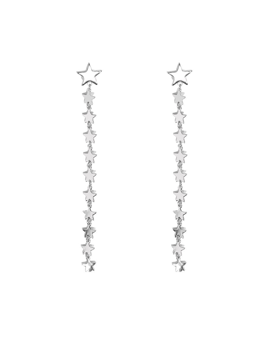 Asia Long Star Shoulder Duster Earrings - chichappensboutique