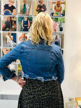 Load image into Gallery viewer, Cropped Denim Jacket - chichappensboutique
