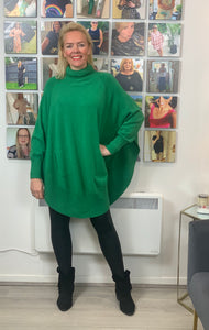 Roll Neck Scooped Hem Jumper (New colours)