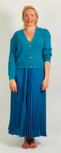 Teal Cardigan - chichappensboutique