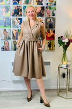 Load image into Gallery viewer, Leather Look Fifties style dress - chichappensboutique