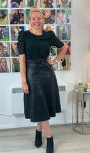 Load image into Gallery viewer, Leather Look A-Line Skirt - chichappensboutique