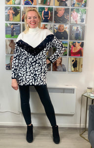 Monochrome Sequin Animal Jumper - chichappensboutique