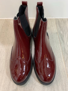 Wine Chunky Chelsea Boots